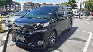 Vellfire Robot For Rent and chauffeur service
