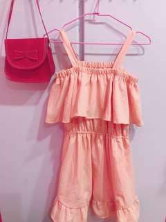🚚 粉橘洋裝<原價490$