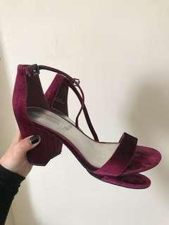 Purple Velvet High Heels