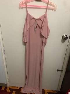 Pastel Pink Long Dress (New)