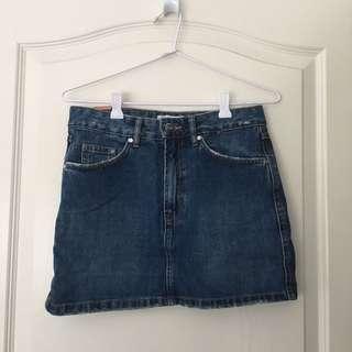 ZARA Dark Wash Denim Skirt