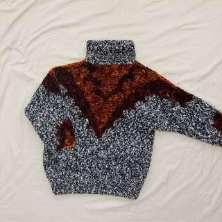 Vintage Knit Turtleneck Sweater