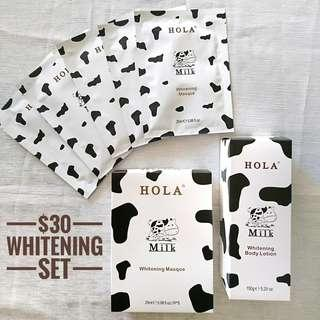 HOLA Whitening Facial Sheet Mask and Body Lotion