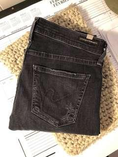 Aritzia citizens of humanity black distressed jeans