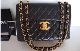 Authentic Chanel 2.55 Vintage Classic Jumbo