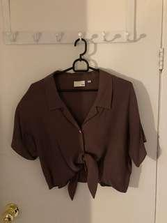 Aritzia Wilfred free button up tee