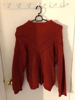 Red mango sweater
