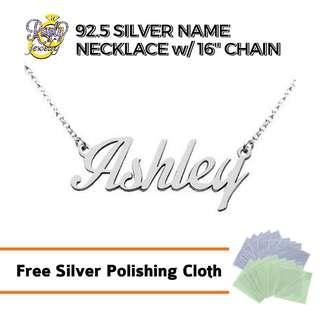 Personalized Silver 92.5 Name Necklace