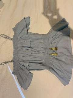 Seed top / blue & gold size S