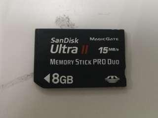 🚚 SanDisk ultra 2 8gb Pro duo memory stick