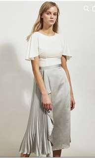 Collate the label side pleat skirt silver M