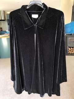 Vintage velvet oversized cardigan