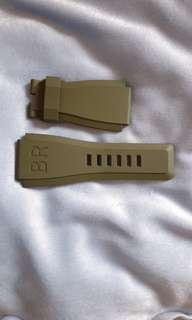 BELL & ROSS BR03 ARMY GREEN RUBBER STRAP