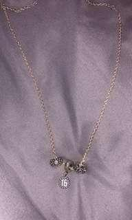 Pandora necklace with charms