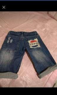 牛仔五分短褲