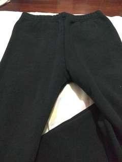 全新黑色刷毛內搭褲