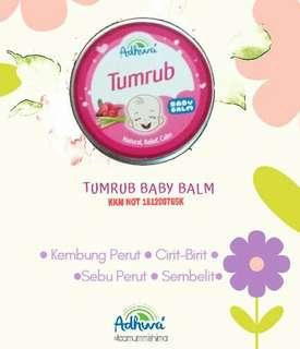 Baby balm adhwa / Tumrub balm / minyak telon / kembung perut