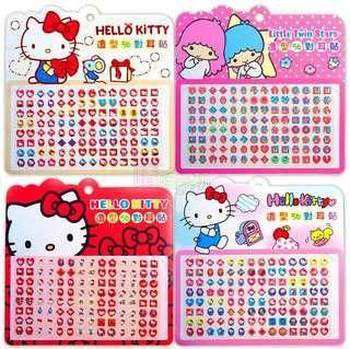 🚚 【現貨】56對 三麗鷗大容量耳貼【晴陪我玩❤玩具】 正版授權 Hello Kitty 雙子