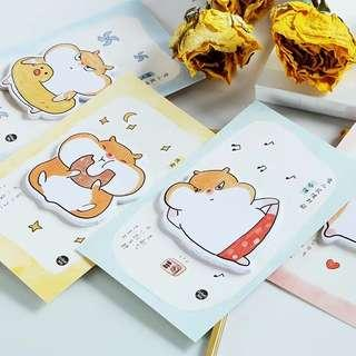 [In stock] Chubby Hamster Post It/ Sticky Memo