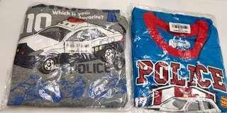 🚚 (MiQi)拍手5~6歲警車上衣 灰色 1件$100藍色1件$100