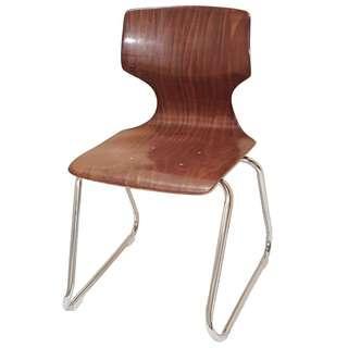 Stockable Oak Wood Chair