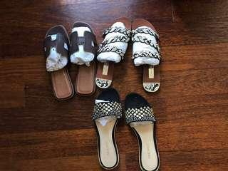 Bundle flat slip ons-all size 35 or US 5