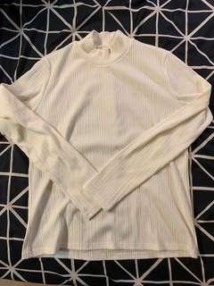 🚚 正韓白色直條紋上衣