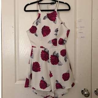 Pink Floral Jumpsuit Size 10