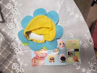 日本扭蛋 貓帽 花