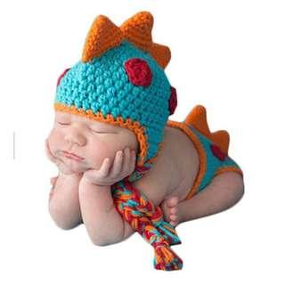 Baby Crochet Knitted Photo Photography Props (Dinosaur Design)