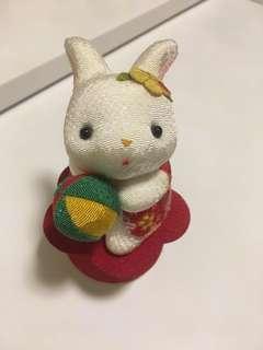 日本小樽 和服兔仔 旋轉音樂盒