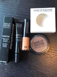 Makeup Forever唇彩+唇膏+啡色眼影
