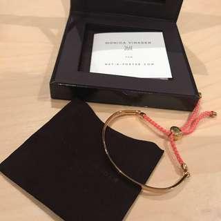 NEW Monica Vinader Fiji Bracelet Gold And Coral