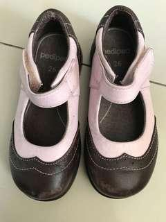 Pediped brown & pink shoes (size26)