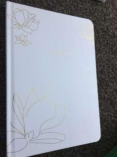 NEW Golden Page White Notebook