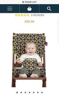Portable light weight baby cloth seat (90% new)