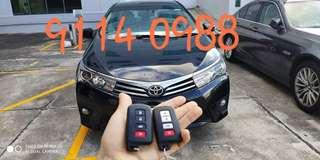 smart remote  #ToyotaAltis by #Genuine# 100% original# exactly what you will get at the dealership#WhatsApp: 9114 0988 # car keys # remotes needs# Soxxi Master!
