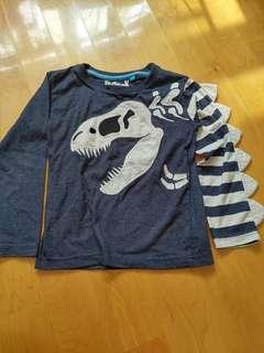 Kids Hide and Seek Dinosaur long sleeves Tee 4_5 yrs