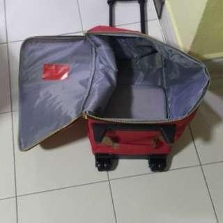 Special Price We are moving  Out  Handy Cabin Bag with handle & roller