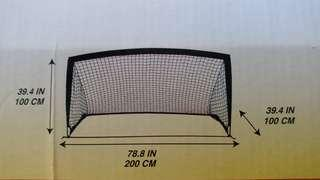 Soccer goal post cage