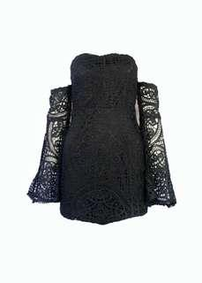BN Black Lace Bell Sleeve Dress (S)