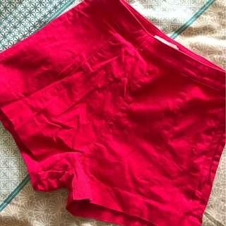 Pink short high-waist