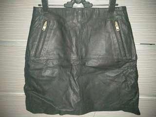 Import leather skirt sz m