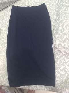 Navy Skirt span