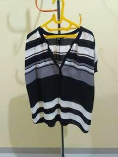 Stripes blouse big size