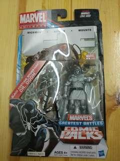 MARVEL UNIVERSE 3.75 INCHES BLACK COSTUME SPIDER-MAN & DR DOOM (not Marvel Legend, DC, Hottoys, NECA)