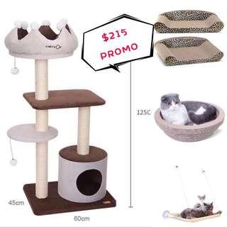 🚚 Sleeping kit for your cats! - cat condo, window bed, scratching bed.