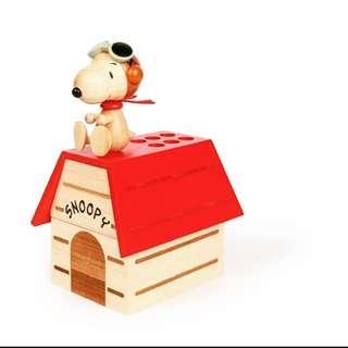 全新 正版 木製 史奴比筆筒收納盒 狗屋 誠品 交換禮物 snoopy