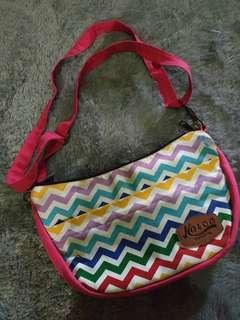 Pink Stripe Sling Bag