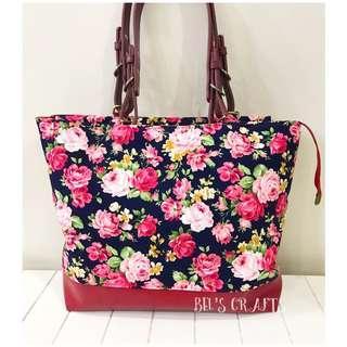 Handmade floral handbag